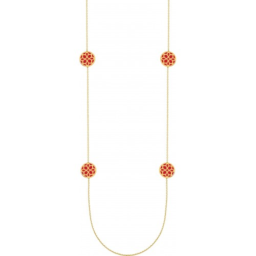COLLIER LAQUE ROUGE OR J. OR375