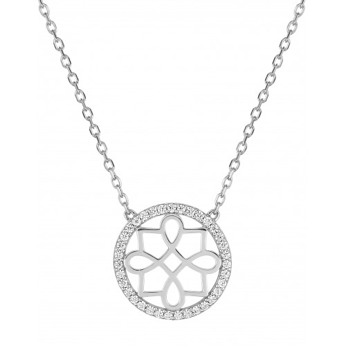 Collier oxyde de zirco. or375 blanc