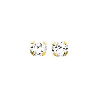 Boucle d'oreille 4 griffes 6mm OZ