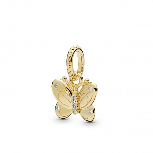 Butterfly Pandora Shine pendant with clear cubic zirconia