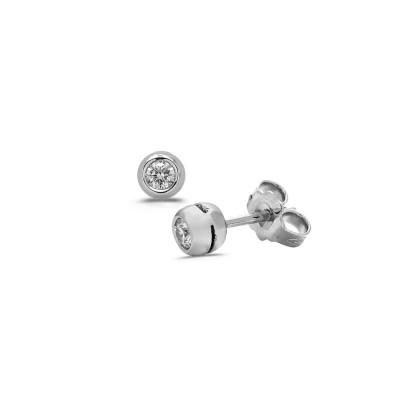 BO or blanc diamants 0.13ct serti clos